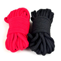 Wholesale Adult sexy black cotton rope thick cotton rope sexy tied up bondage adult product manufacturers