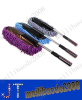 Wholesale Retractable flat car wax to wax trailers nanowires dust brush car wash wax duster cleaning removable MYY2170