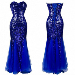 Wholesale 2015 Mermaid Evening Dresses Sweetheart Zipper Back Sequined Fishtail Formal Dress in Stock Cheap Bridesmaid Dresses Mermaid Prom Dresses