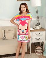 Free Size cartoon nightgown modal cartoon rabbit eye piece s...