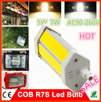 Wholesale 1PC Non Dimmable R7S COB W W R7S LED Bulb Lamp Light Energy Saving Warm Cold White With CE RoHS Replace Halogen Floodlight Bulb