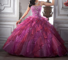 Wholesale 2014 Quinceanera Dresses With Wrap New Arrival Long Spaghetti Straps Ruffles Fashion Floor Length Organza Ball Gowns Special Occasion W8008