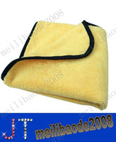 Wholesale gsm x inches Plush Microfiber Buffing Towel Microfibre Polishing High Quality Cloths MYY2173