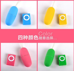 Wholesale 20 Frequency Wireless Remote Control Vibrating Egg Vibrator Bullets Adult Sex Toys For Woman MP3 Shape Remote Controlling G Spot Massager