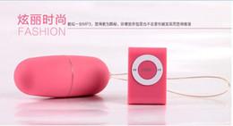 Wholesale Adult Sex Toys Wireless MP3 Design Remote Control Vibrating Eggs Bullets Frequency Vibrator Women s G Spot Massager Sex Pleasure Machine