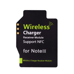 Wholesale Qi New Standard Wireless Charging Receiver Supporter NFC Pad for Samsung Galaxy Note III N9000 N9005 Wireless Charger PA1575