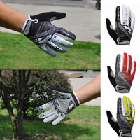 Wholesale New Men s Sports Cycling Gloves Full Finger Racing Riding Bike Road Bicycle Motor GEL Silicone Gloves White Green Red M LXL H11385