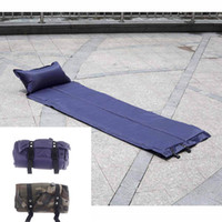 Wholesale 2014 New Automatic Inflatable Sleeping Pad Moisture proof Tent Mat with Pillow Cushion for Outdoor Camping CP Camouflage Blue H11351