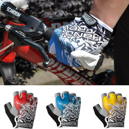 Wholesale 2014 New Outdoor Sports Half Finger Gloves MTB Road Bicycle Bike Racing Riding Motor Cycling Gloves Size M L XL Yellow Red Blue H11384