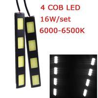 Wholesale 1Pair W COB LED Car Daytime Running Light LED COB Bar DRL Driving Lamp Bulbs White V K Fog Day Leds K1324
