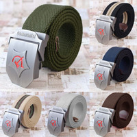 Wholesale Men Women Canvas ceinture Metal Buckle Waist Strap Stripe Belts for man Unisex Military Army Tactical cintos femininos GA4012