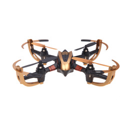 Wholesale Yizhan Iron Man Golden X4 CH G Axis Radio Control Quadcopter Model Toys UFO D Flying Saucer Transmitter with LCD Display RM945
