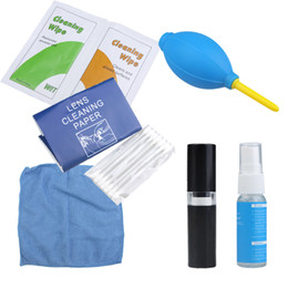 Wholesale New in1 Professional Camera Lens Cleaning Cleaner kit Blower Liquid Cloth Brush for Canon Nikon Pentax Sony D1244