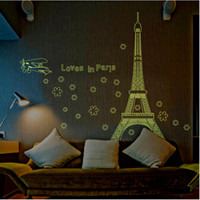 beautiful home design - Eiffel Tower Beautiful View of Paris Noctilucent DIY Wall Sticke Wallpaper Stickers Art Decor Mural Room Decal Home Decoration H11583