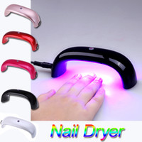 arts - 2014 Portable W V LED Light Bridge shaped Mini Curing Nail Dryer Nail Art Lamp Care Machine for UV Gel EU Plug H10935