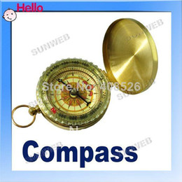 Portable Outdoor Classic Brass Pocket Watch Style Camping Compass Travel Hiking free shopping 284