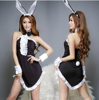fashion pajamas - 2015 Top Fashion New Arrival Woman M Uniform Push Up Sexy Lingerie Women Live Uniforms Pure Bunny Skirt Pajamas Extremely Suit Temptation