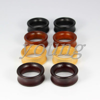 bamboo ear plugs - 2015 hot sale new fashion design bamboo wood ear tunnel plugs expander guages piercing body jewelry mm CO