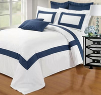 Wholesale JOLIEHOME bedding set for king queen size bed in a bag bule sky Satin fabric cotton