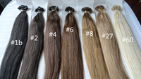 Cheap SELL WELL !!!!!!! Brazilian Virgin Remy Human hair Flat tip hair extension Unprocessed NO shedding no tangle 3packs  lot free shipping