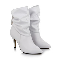 Wholesale 2014ol collar leather fashion boots pointed high heeled shoes women s boots comfortable and warm boots