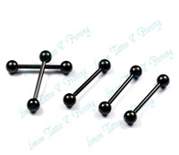 Wholesale OP L surgical steel black color barbell eyebrow rings belly button ring earrings piercing jewelry