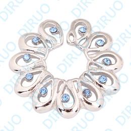 Wholesale-OP-Wholesale Rhinestone Brass Non piercing clip on Nipple Ring Body Piercing Jewelry
