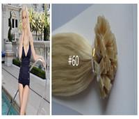 100g Black Malaysian Hair Great hair ! virginMalaysian hair extensions flat tip 3pcs per lot 100%human hair
