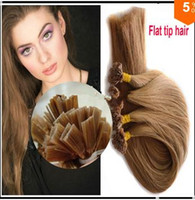 100g Black Malaysian Hair Great hair ! virgin Malaysian remi hair extensions flat tip 3pcs per lot 100%human hair