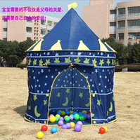 Tents Animes & Cartoons Cloth free shipping Wholesale -Children Kids Play Tent toy game house cartoons tents princess castle palace baby beach tent