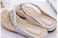 Wholesale 2014 Fashion Women s Sandals Summer Beach Flip Flops Lady Slippers Sandals for Women Diamand Cross Flat Shoes Women Colours