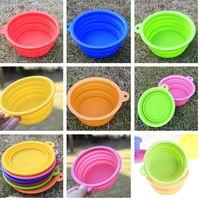 Wholesale colorful Grade Fold Pet Bowl Portable Folding Dog cat Bowl Pet Food Dish Pet Feeders