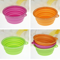 Wholesale High Quality Grade Fold Pet Bowl Portable Folding Dog cat Bowl Pet Food Dish Pet Feeders