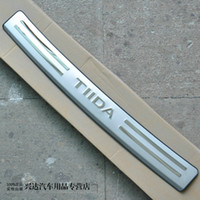 Wholesale 05 Nissan models Nissan Tiida old guard post after special stainless steel decorative light strip bar pedal TIIDA