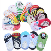 Wholesale Hot selling NISSEN baby Anti skid socks baby animal lace socks Toddler socks pair KZ0769