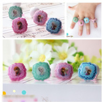 Wholesale 60pcs Frozen Elsa Anna Kids Birthday Gift Finger Ring Children s Day Present Petal Rings Adjustable For Childs Girls Jewelry H1197