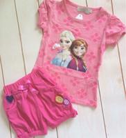 HOT Summer Frozen Girl 2pcs Set Clothing 2014 Princess Anna ...