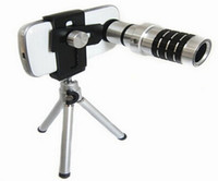 Universal   Mobile Phone Telescope Camera 12-fold increase in metal optical lens for universal phone holder lens