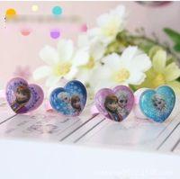Wholesale Frozen Elsa Anna Kids Birthday Gift Finger Ring Children s Day Heart Shape Rings Adjustable For Childs Princess Elsa Jewelry H1198