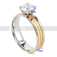 Band Rings Celtic Women's Wedding Engagement Charm Fashion Round Rings for Women Gold Plated White CZ Lady Zircon Ring