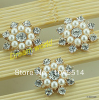 Quilt Accessories Buttons Yes sun flower button with pearl wholesale for handmade hair bow flower embellishments (100 pcs lot)