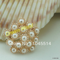 Quilt Accessories Buttons Yes wedding decoration pearl embellishment bow for ribbon hair clips decoration(20 pcs lot)