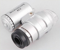 Wholesale 30 X LED Mini Pocket Microscope Magnifier Jeweler Loupe dropshipping H1837
