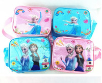 Wholesale Perorder Frozen Elsa Anna Kids Shoulder Bags Children Girls Outdoor Picnic Backpacks Childs Bottle Box Lunch Bag High Quality H1199