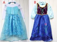 Frozen Elsa Anna Deluxe Girl' s Costume dresses tulle lo...