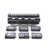 ar aluminum - OP ALUMINUM AR AR15 AR M4 Rifle Carbine Length Weaver Picatinny Quad Rail Handguard with Rubber Covers