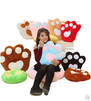 Wholesale New x cm bear s paw cartoon hold pillow color plush dolls toys Gift