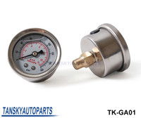 Wholesale High Quality Fuel Pressure Gauge Liquid psi Oil Pressure Gauge Fuel Gauge White Face TK GA01