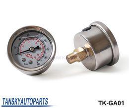 Alta calidad Indicador de presión de combustible líquido 0-160 psi de presión de aceite Gauge Medidor de combustible cara blanca TK-GA01