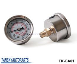 Wholesale High Quality Fuel Pressure Gauge Liquid psi Oil Pressure Gauge Fuel Gauge White Face TK GA01